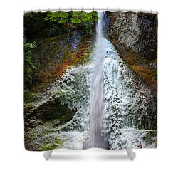 Frozen Marymere Falls Shower Curtain by Inge Johnsson