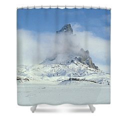 Frozen Peak 1001 Shower Curtain by Brent L Ander