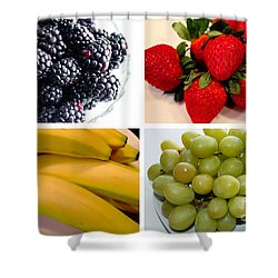 Fruit Collage Shower Curtain by Barbara Griffin