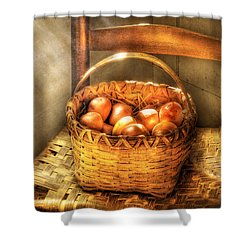 Fruit - Fresh Peaches  Shower Curtain by Mike Savad