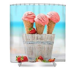 Fruit Ice Cream Shower Curtain by Amanda Elwell