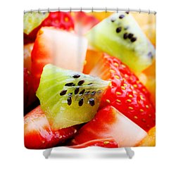 Fruit Salad Macro Shower Curtain by Johan Swanepoel