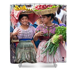 Fruit Sellers In Antigua Guatemala Shower Curtain by David Smith