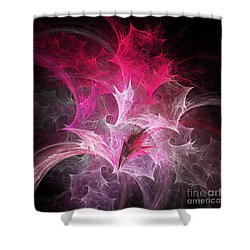 Fuchsia Fountain Abstract Shower Curtain by Andee Design