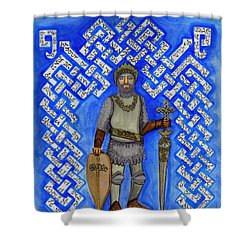 Full Armor Of Yhwh Man Shower Curtain by Hidden  Mountain
