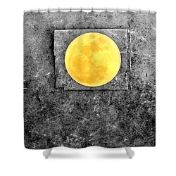 Full Moon Shower Curtain by Rebecca Sherman