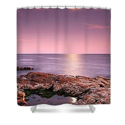 Full Moon Reflection Shower Curtain by Juergen Roth