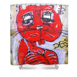 Funky Feline Shower Curtain by Ramona Johnston