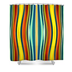 Fury Pattern 1 Shower Curtain by Amy Vangsgard