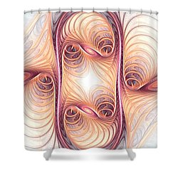 Fusion Shower Curtain by Anastasiya Malakhova