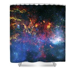 Galactic Storm Shower Curtain by The  Vault - Jennifer Rondinelli Reilly