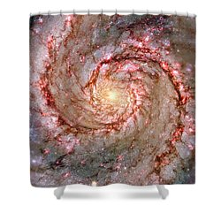 Galactic Whirlpool Shower Curtain by Benjamin Yeager