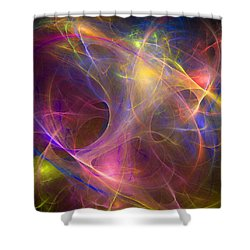Galaxie Fractale -01 Shower Curtain by RochVanh