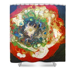 Galaxy With Solar Systems Shower Curtain by Augusta Stylianou