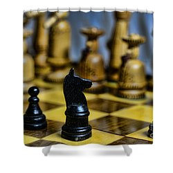 Game Of Chess Shower Curtain by Paul Ward