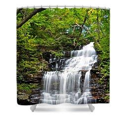 Ganoga Falls Ricketts Glen Shower Curtain by Frozen in Time Fine Art Photography