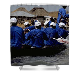 Shower Curtain featuring the photograph Ganvie - Lake Nokoue by Travel Pics