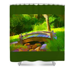 Garden Bridge Shower Curtain by Gerry Robins