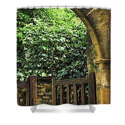 Garden Gate In Sarlat Shower Curtain by Elena Elisseeva