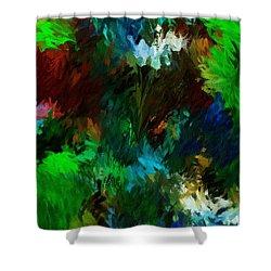 Garden In My Dream Shower Curtain by David Lane
