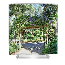 Garden Walkway Shower Curtain by Aimee L Maher Photography and Art Visit ALMGallerydotcom