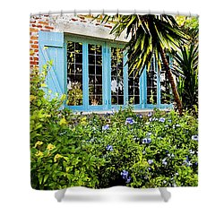 Garden Window Db Shower Curtain by Rich Franco