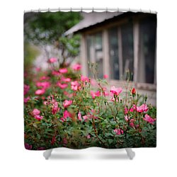 Gardens Of Pink Shower Curtain by Linda Unger