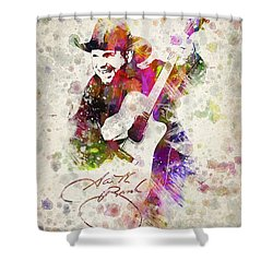 Garth Brooks Shower Curtain by Aged Pixel