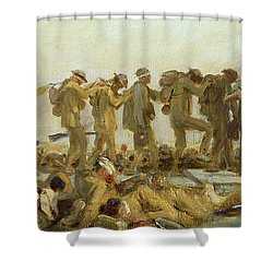 Gassed    An Oil Study Shower Curtain by John Singer Sargent