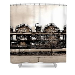 Gasworks Seattle Shower Curtain by Benjamin Yeager