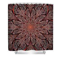 Gates Of Fire Shower Curtain by Anastasiya Malakhova