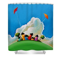 Gather Round Shower Curtain by Cindy Thornton