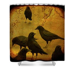 Gathering Shower Curtain by Gothicolors Donna Snyder