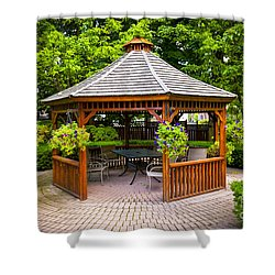 Gazebo  Shower Curtain by Elena Elisseeva