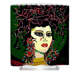Geisha 6 Shower Curtain by Natalie Holland