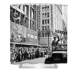 General Patton Ticker Tape Parade Shower Curtain by War Is Hell Store