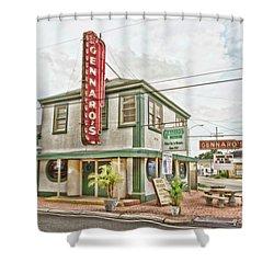 Gennaro's Shower Curtain by Scott Pellegrin