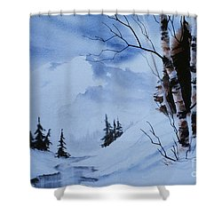 Gentle Mountains Shower Curtain by Teresa Ascone