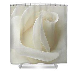 Gentle White Rose Flower Shower Curtain by Jennie Marie Schell