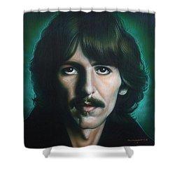 George Harrison Shower Curtain by Tim  Scoggins