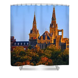 Georgetown University Shower Curtain by Mitch Cat
