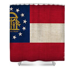 Georgia State Flag Shower Curtain by Pixel Chimp