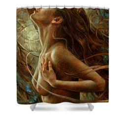 Getera Shower Curtain by Arthur Braginsky