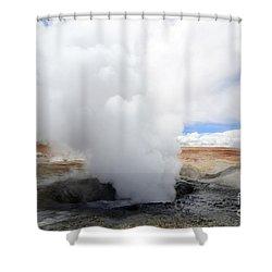 Geyser Sol De Manana Bolivia 1 Shower Curtain by Bob Christopher