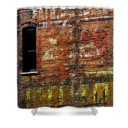 Ghost Sign 13469 3 Shower Curtain by Jerry Sodorff