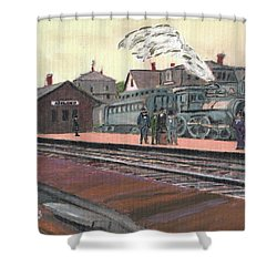 Ghost Train Shower Curtain by Cliff Wilson