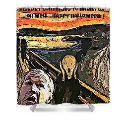 Ghosts Of The Past Shower Curtain by John Malone