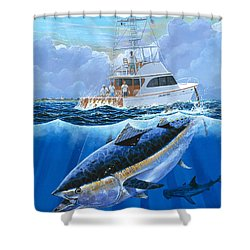 Giant Bluefin Off00130 Shower Curtain by Carey Chen