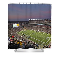 Gillette Stadium And New England Patriots Shower Curtain by Juergen Roth