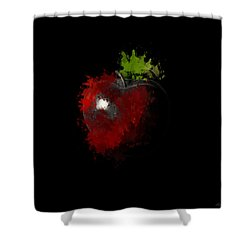 Gimme That Apple Shower Curtain by Lourry Legarde
